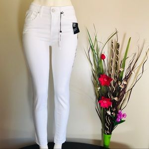William Rast Women's Skinny Ankle White Jeans